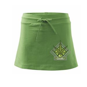 Cannabis list kosočtverec - Sportovní sukně - two in one
