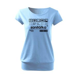 Čárový kód sanitářka - Volné triko city