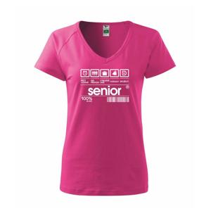 Čárový kód senior - Tričko dámské Dream