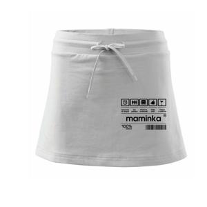 Čárový kód - Tatínek / Čárový kód - Maminka - Sportovní sukně - two in one