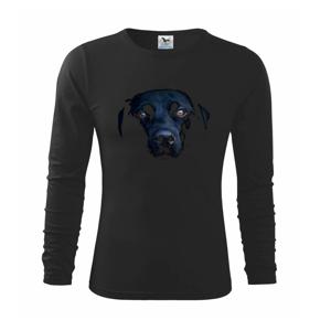 Černý Labrador fotka - Triko dětské Long Sleeve