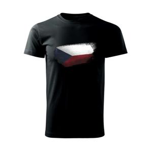 Česká vlajka okousaná - Triko Basic Extra velké
