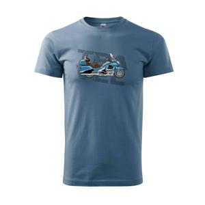 Cestovní motorka Amerika modrá - Heavy new - triko pánské