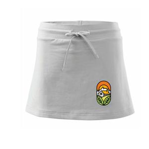 Chalupa při západu slunce - Sportovní sukně - two in one