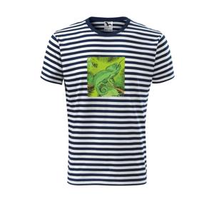 Chameleon na větvi - Unisex triko na vodu