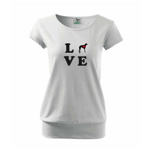 Chrt love - Volné triko city