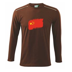Čína vlajka - Triko s dlouhým rukávem Long Sleeve