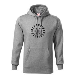 Cold stron happy - Mikina s kapucí hooded sweater