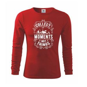 Collect moments not things - Triko dětské Long Sleeve