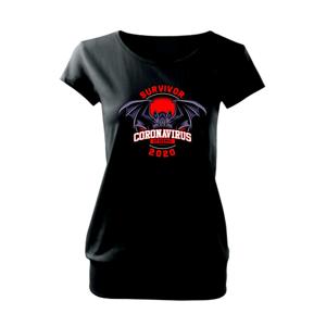 Corona netopýr survive - Volné triko city