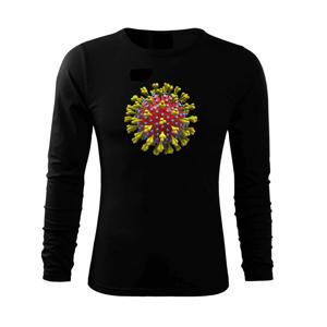 Corona virus - korona virus - Triko s dlouhým rukávem FIT-T long sleeve