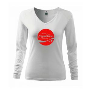 Corona virus pandemic logo - Triko dámské Elegance