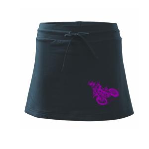 Crosska fialová - Sportovní sukně - two in one