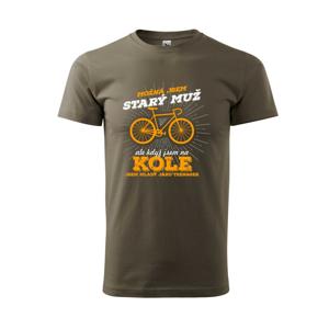 Cyklista - možna jsem starý - Triko Basic Extra velké