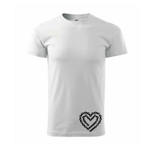 Cyklo srdce řetěz - Triko Basic Extra velké