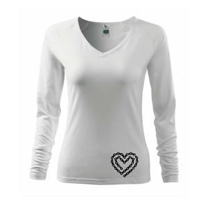 Cyklo srdce řetěz - Triko dámské Elegance
