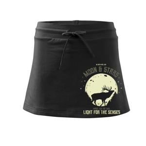 Deer moon - Sportovní sukně - two in one