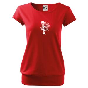 Disc golf pozor strom - Volné triko city