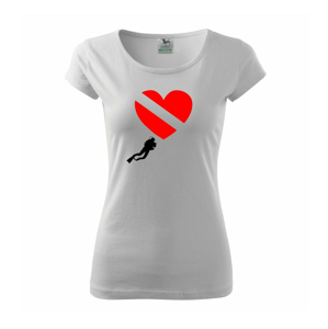 Dive srdce - Pure dámské triko