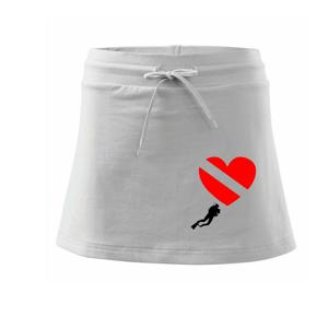 Dive srdce - Sportovní sukně - two in one