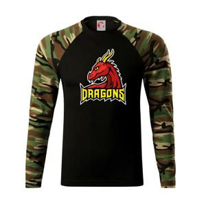 Dragons - logo týmu červené (Hana-creative) - Camouflage LS