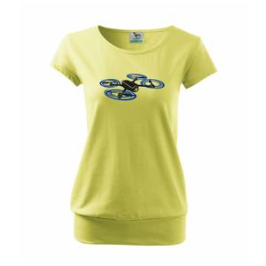 Dron letící - Volné triko city