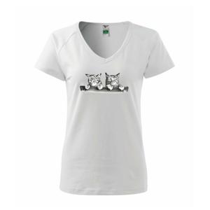 Dvě koťátka na židli - Tričko dámské Dream