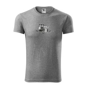 Dvě sovy abstraktní - Viper FIT pánské triko