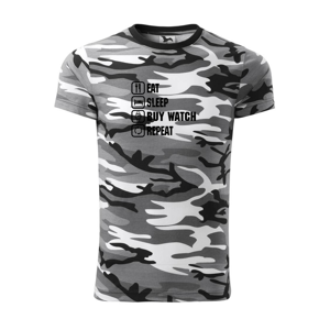 Eat sleep buy watch reapeat - Army CAMOUFLAGE