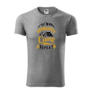 Eat Sleep Camp Repeat - Replay FIT pánské triko