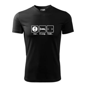 Eat sleep Code - Pánské triko Fantasy sportovní (dresovina)