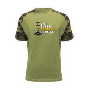 Eat Sleep Detect Repeat - Raglan Military