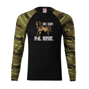 Eat Sleep Ride Repeat Western - Camouflage LS