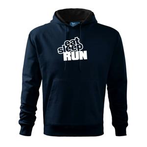 Eat sleep run velké - Mikina s kapucí hooded sweater