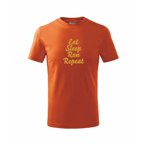 Eat sleep run zlatá - Triko dětské basic