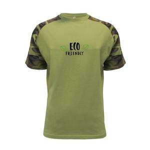 Eco friendly - nápis - Raglan Military
