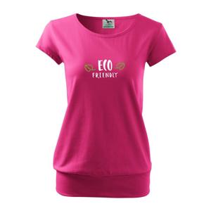 Eco friendly - nápis - Volné triko city