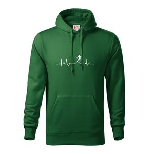 Ekg běžkař - Mikina s kapucí hooded sweater