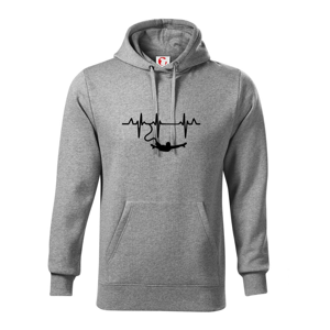 EKG bungee jumping - Mikina s kapucí hooded sweater