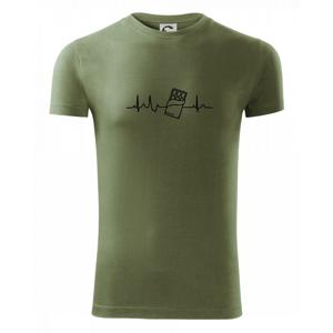 EKG čokoláda - Viper FIT pánské triko
