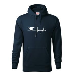 EKG kovář - Mikina s kapucí hooded sweater