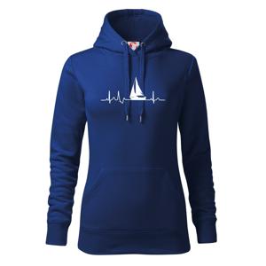 EKG plachetnice - Mikina dámská Cape s kapucí