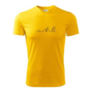 EKG triatlon - Pánské triko Fantasy sportovní (dresovina)