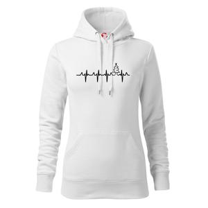 EKG Vánoční stomek - Mikina dámská Cape s kapucí