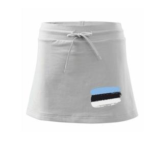 Estonsko vlajka - Sportovní sukně - two in one