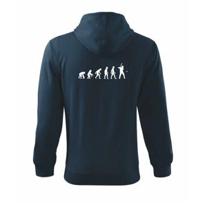 Evoluce baseball pálkař nápřah + míček - Mikina s kapucí na zip trendy zipper