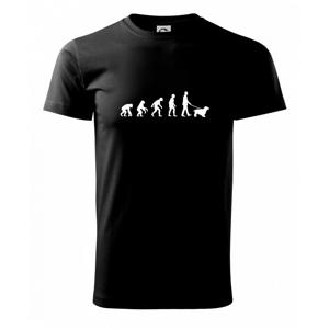 Evoluce pes kokršpaněl (muž-žena) - Heavy new - triko pánské