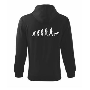 Evoluce pes - Mikina s kapucí na zip trendy zipper