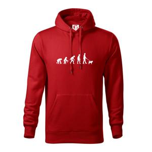 Evoluce pes Mops (muž-žena) - Mikina s kapucí hooded sweater