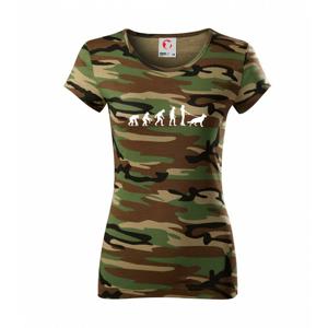 Evoluce pes Německý ovčák (muž-žena) - Dámské maskáčové triko